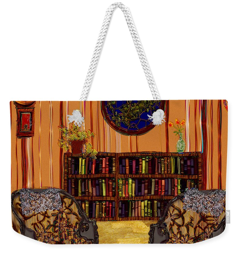 Folk Art Weekender Tote Bag featuring the painting A Victorian Horror by RC DeWinter