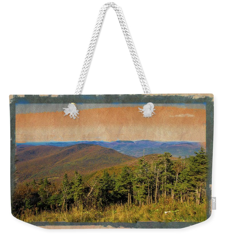 Equinox Mountain Weekender Tote Bag featuring the photograph Equinox Mountain, Vermont.       by Rusty R Smith
