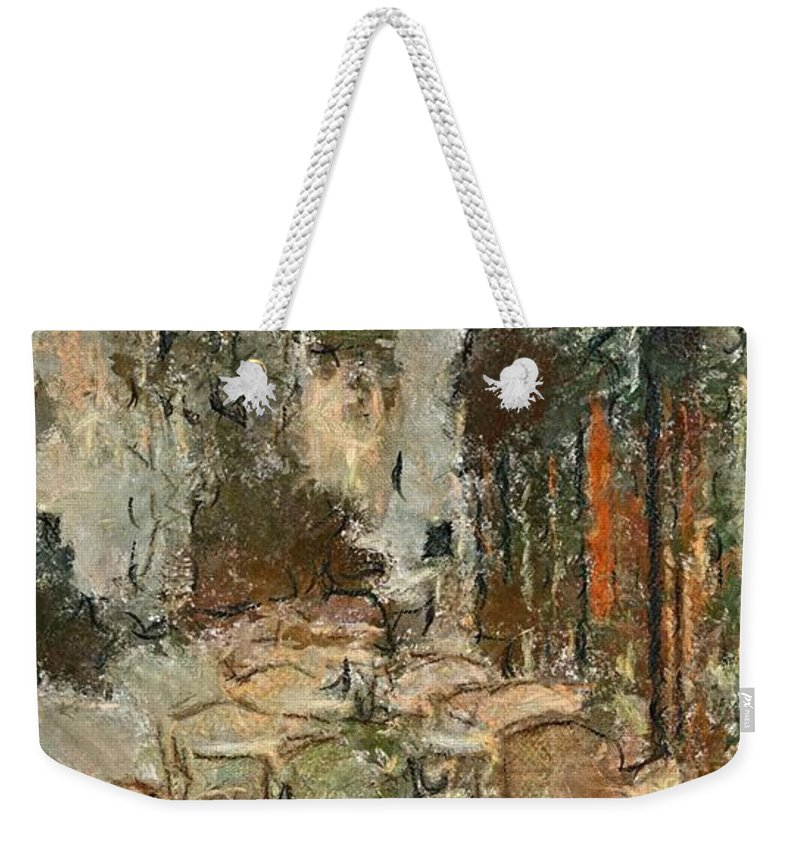 Summer Weekender Tote Bag featuring the painting A View On The Sacre Coeur by Dragica Micki Fortuna