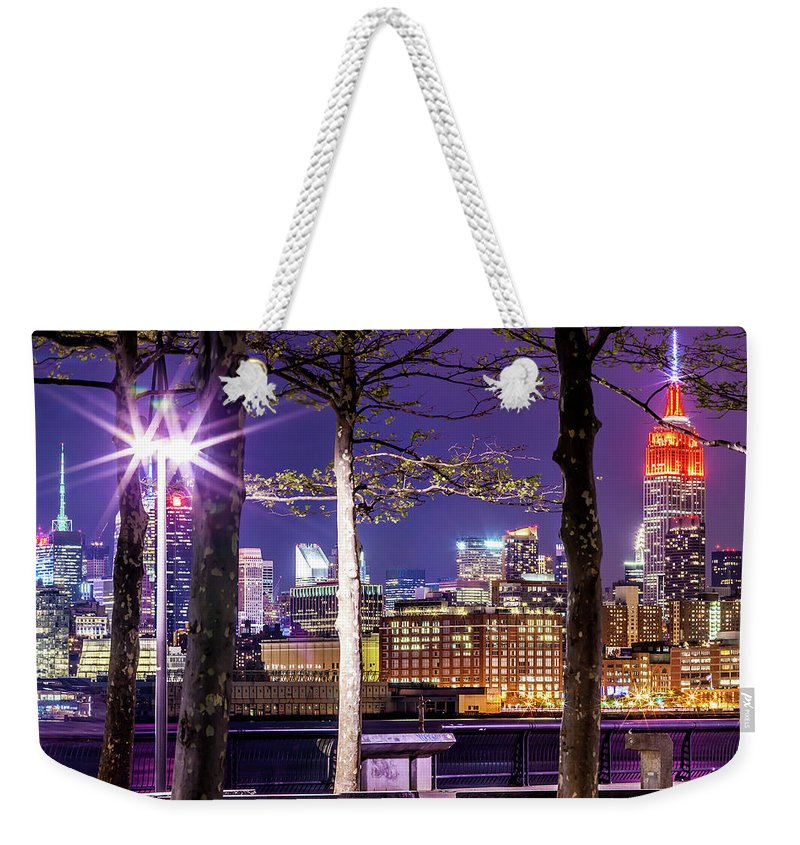 Empire State Building Weekender Tote Bag featuring the photograph A View To Behold by Az Jackson