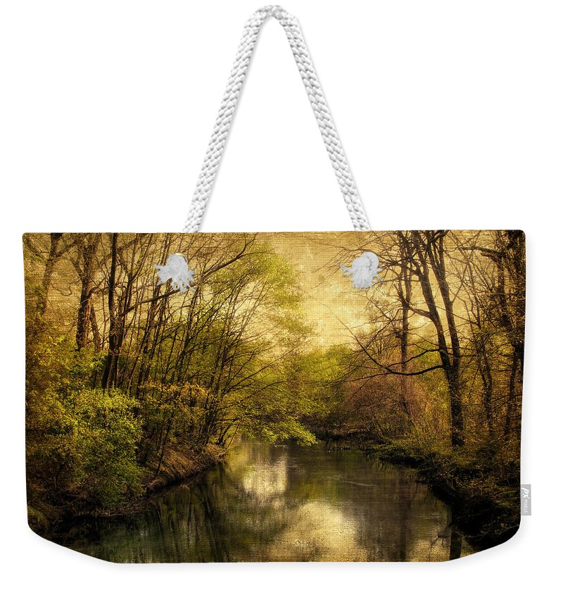 Digital Art River Weekender Tote Bag featuring the photograph A Vintage Spring by Jessica Jenney