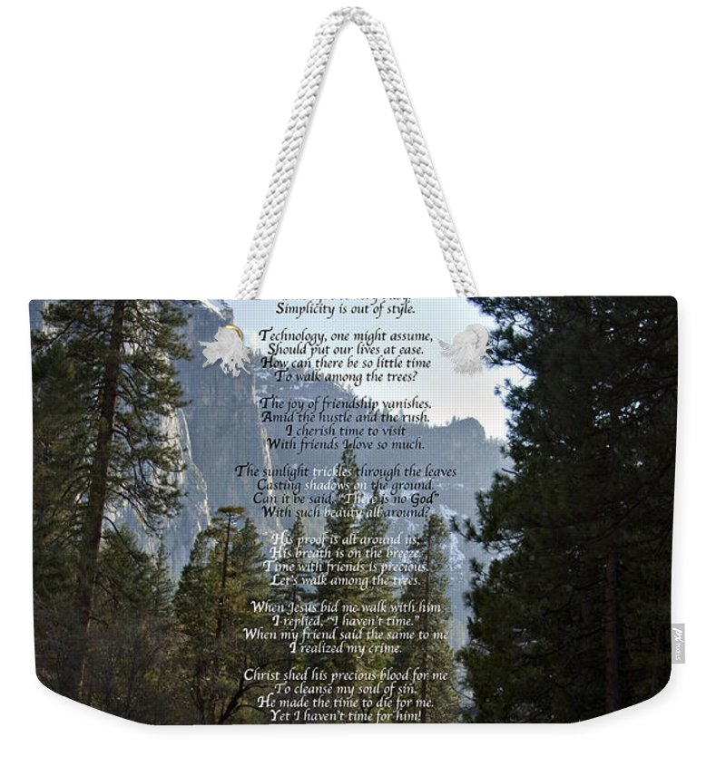 Photograph Weekender Tote Bag featuring the photograph A Walk Among The Trees by David Martin