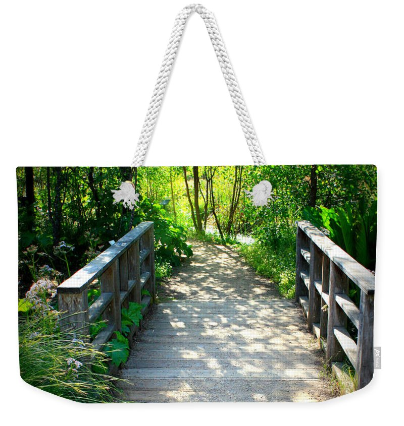 Garden Path Weekender Tote Bag featuring the photograph A Walk In The Park by Carol Groenen