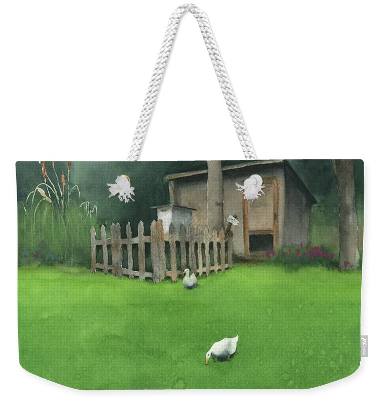 Watercolor Weekender Tote Bag featuring the painting A Walk by Zapista Zapista