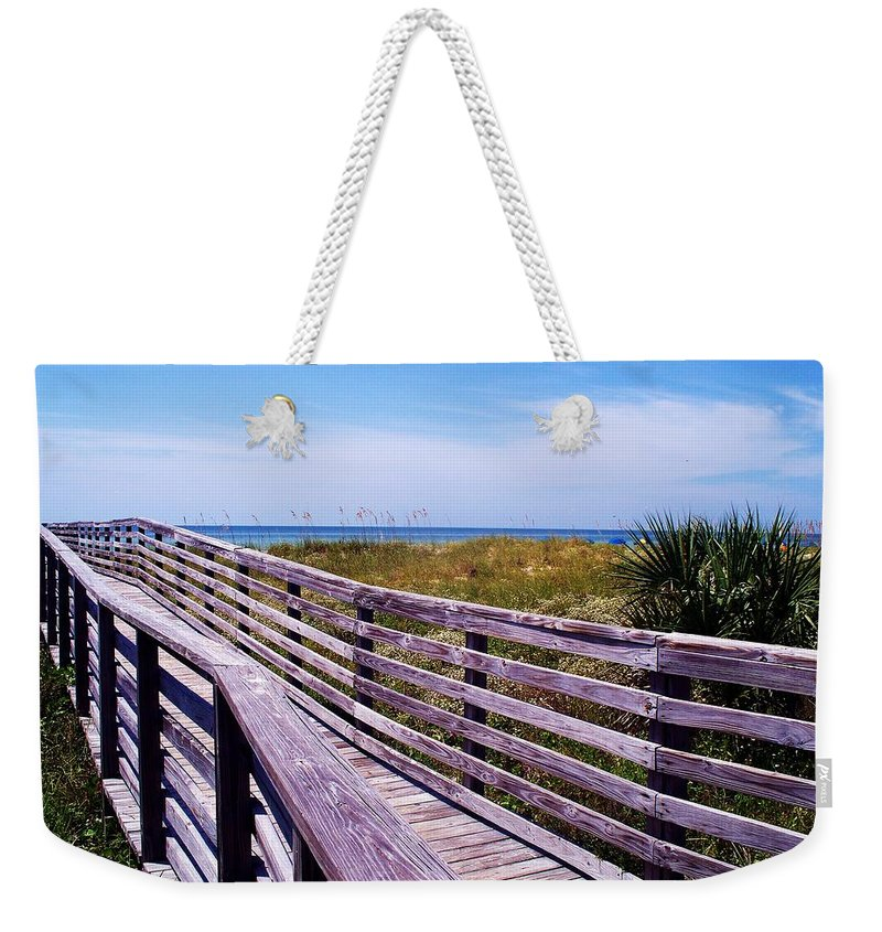Beach Weekender Tote Bag featuring the photograph A Walk To The Beach by Robin Monroe