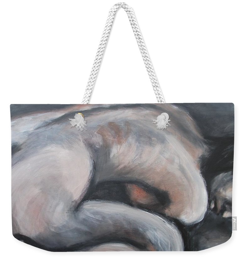 Warm Weekender Tote Bag featuring the painting A Warm Feeling by Carmen Tyrrell