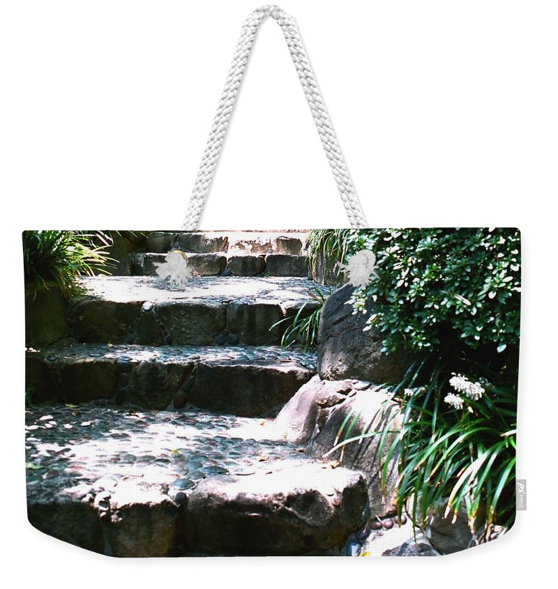 Stairs Weekender Tote Bag featuring the photograph A Way Out by Dean Triolo