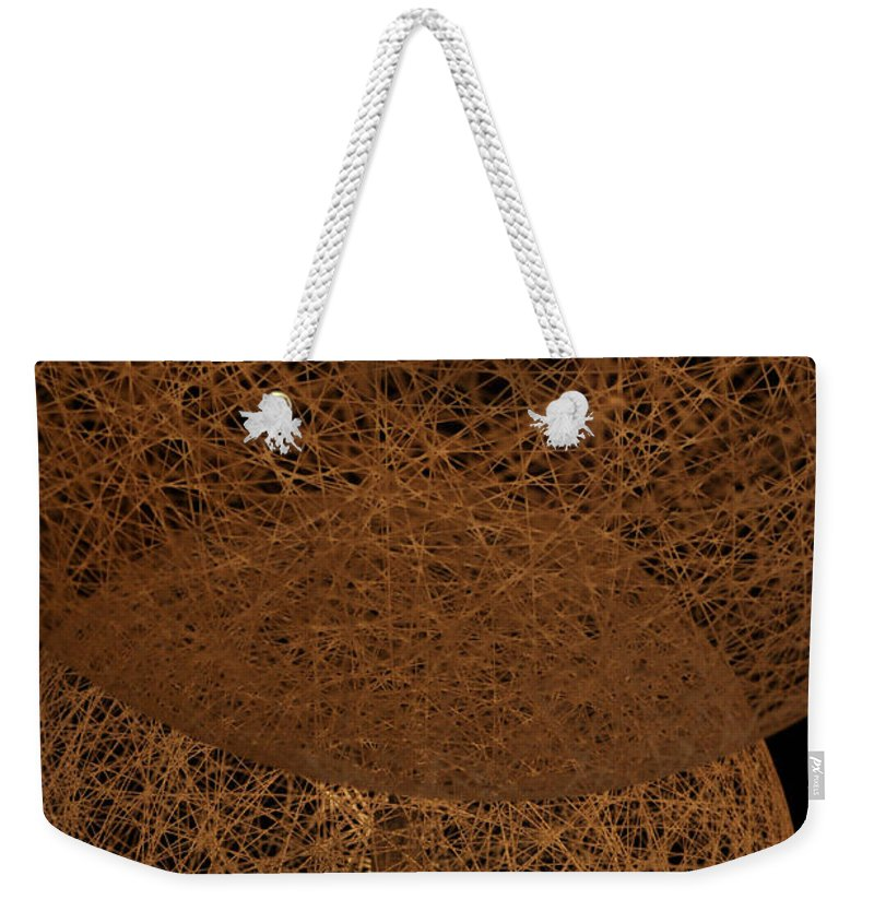 Clay Weekender Tote Bag featuring the photograph A Web Of Photons by Clayton Bruster