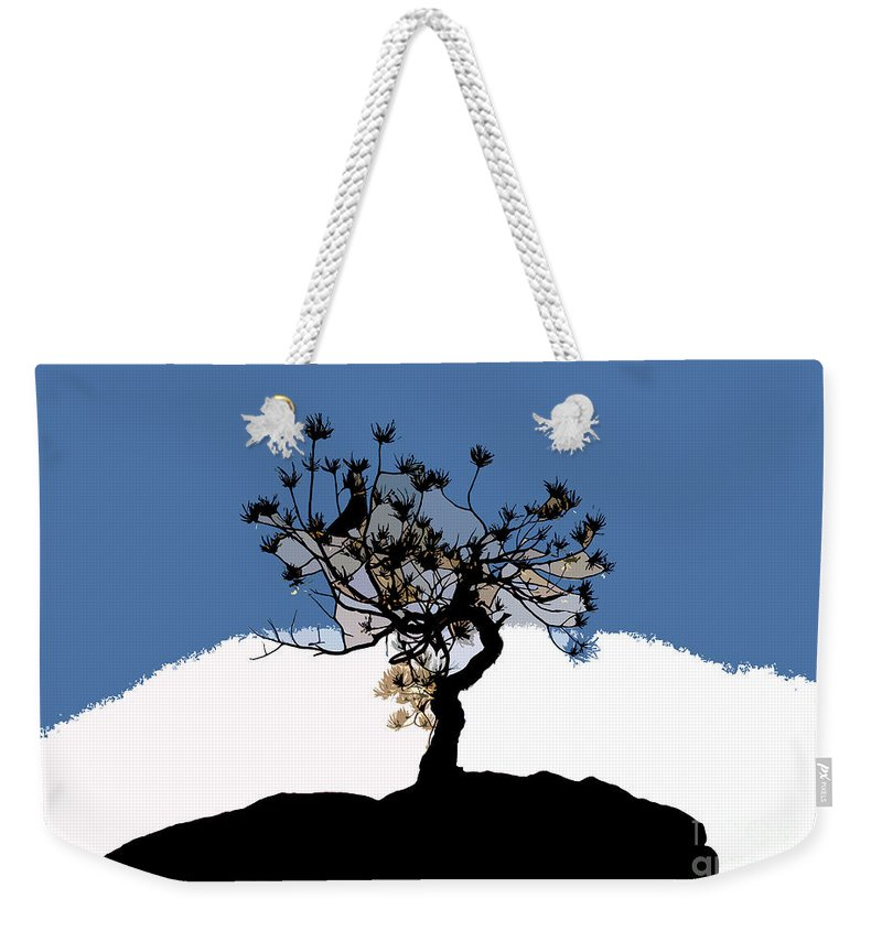 Tree Weekender Tote Bag featuring the painting A Will To Live by David Lee Thompson