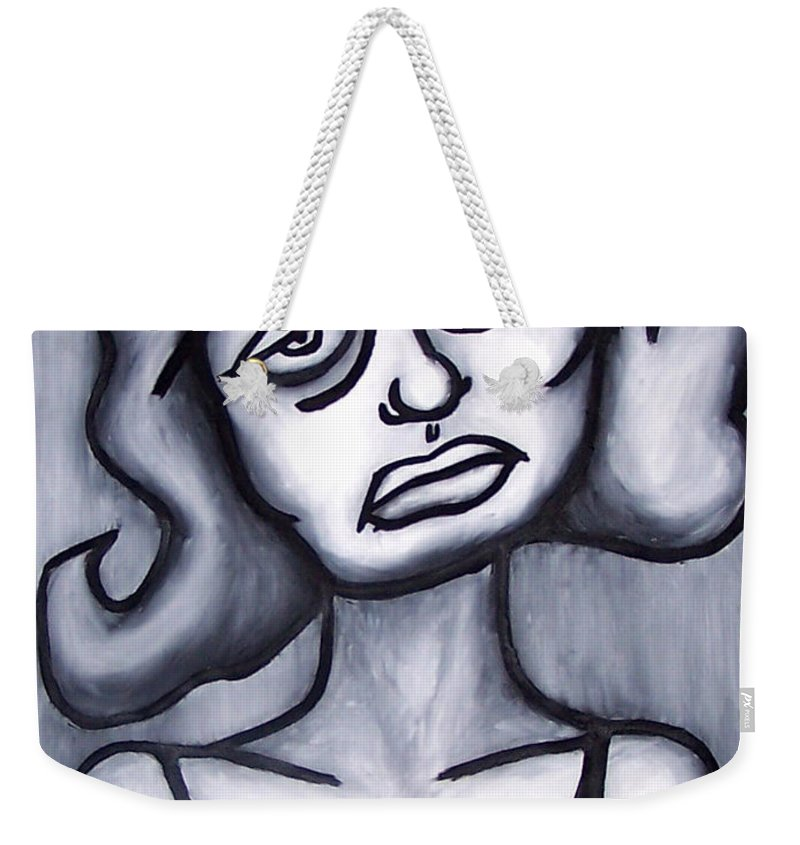 Portait Weekender Tote Bag featuring the painting A Woman by Thomas Valentine