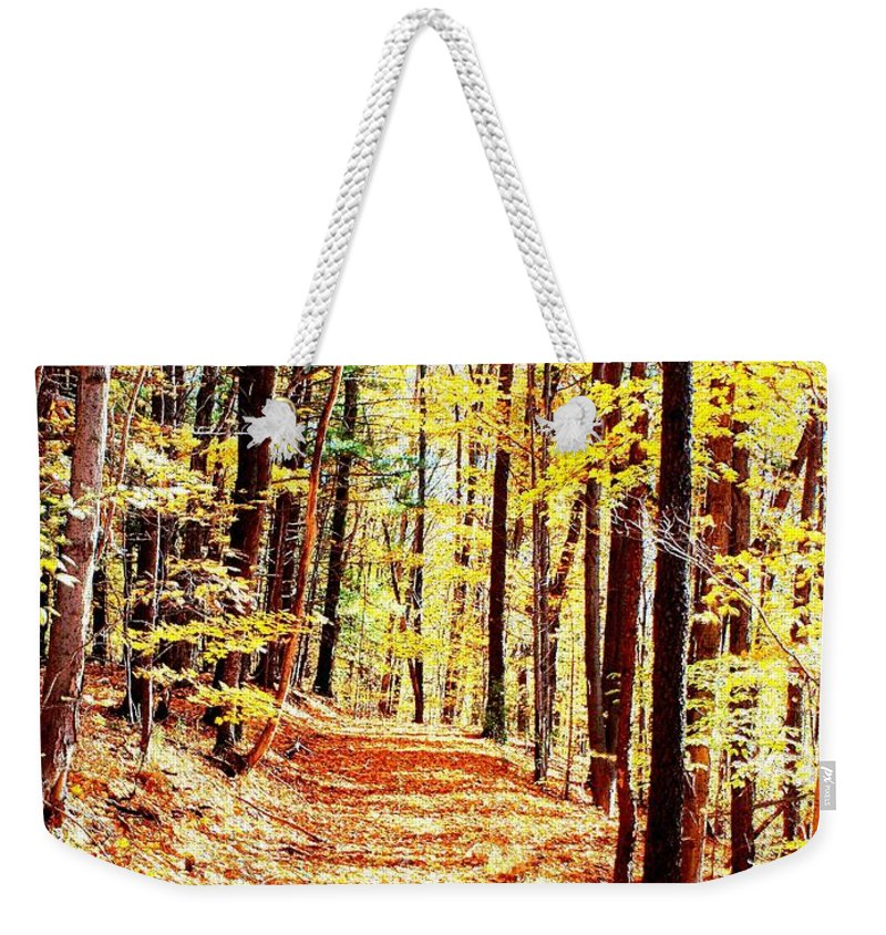 Autumn Weekender Tote Bag featuring the photograph A Yellow Wood by Joshua House
