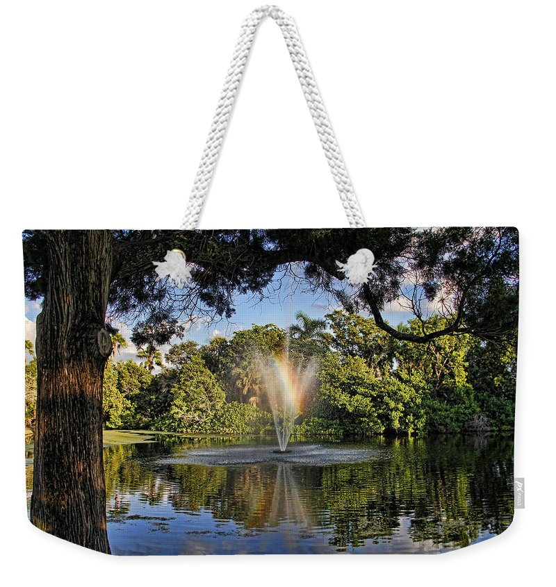 Pond Weekender Tote Bag featuring the photograph A Zen Oasis By H H Photography Of Florida by HH Photography of Florida