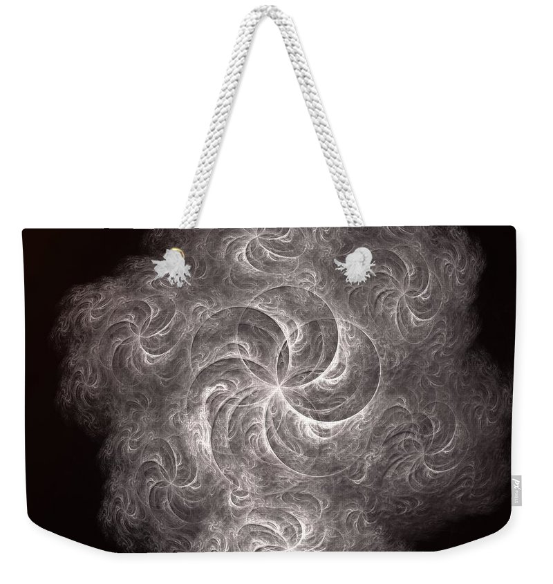Fractal Weekender Tote Bag featuring the digital art a011_2 Santa Claus Is Coming To Town by Drasko Regul
