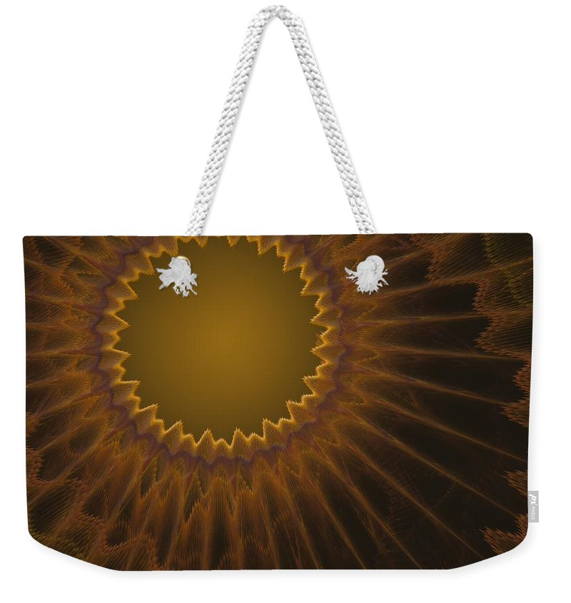 Fractal Weekender Tote Bag featuring the digital art a044 Sunny Side Of The Galaxy by Drasko Regul