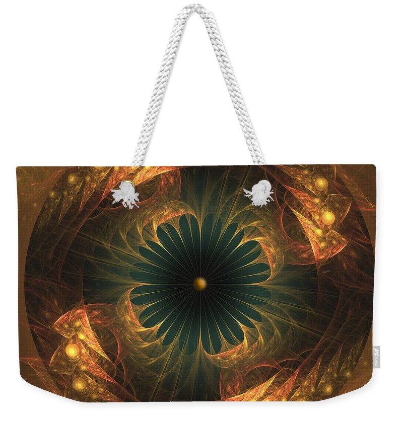 Fractal Weekender Tote Bag featuring the digital art a049-4 GPMW Ultra-Sound Facility by Drasko Regul