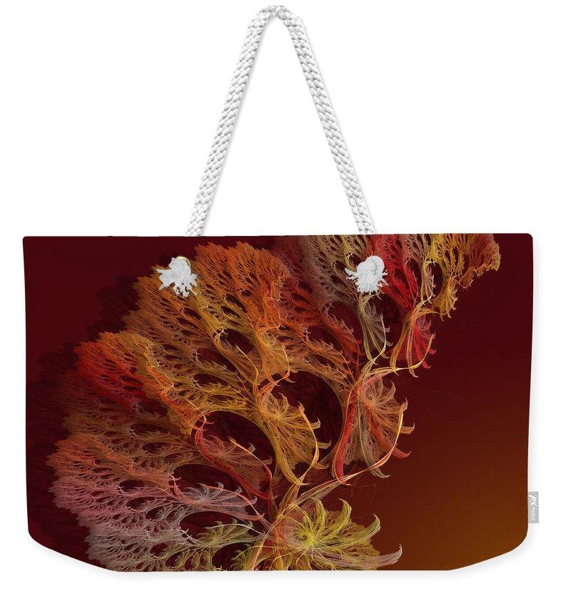 Fractal Weekender Tote Bag featuring the digital art a051 Multilegged Tree by Drasko Regul
