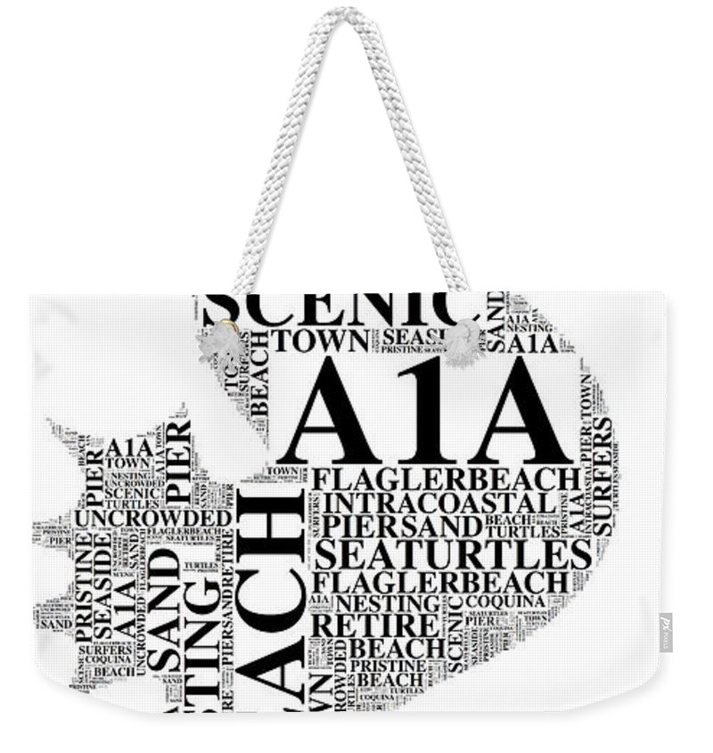 Flaglerbeach Uncrowded Beach Weekender Tote Bag featuring the digital art A1A by Alice Gipson