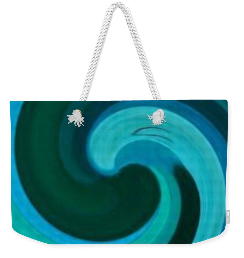 Continuious Weekender Tote Bag featuring the digital art A77 by Andrew Johnson