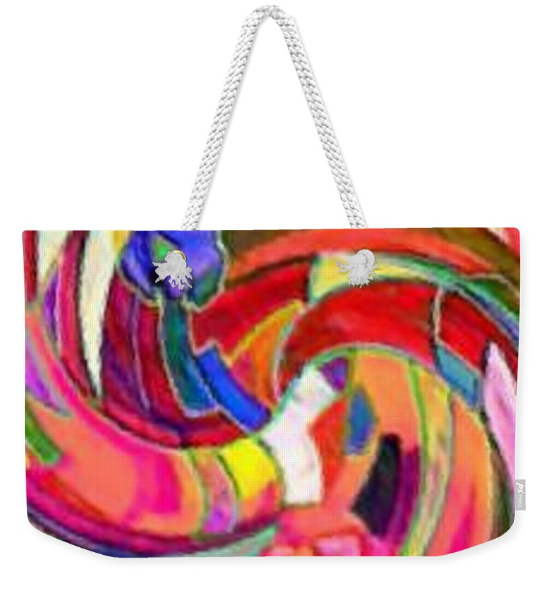 Digital Image Weekender Tote Bag featuring the digital art AB by Andrew Johnson