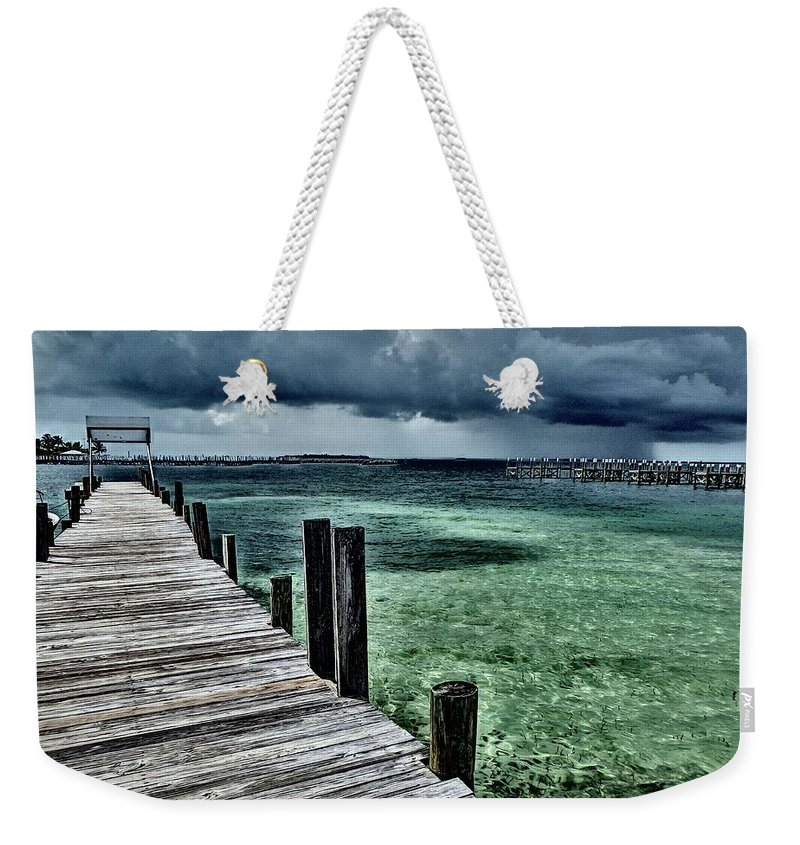 Caribbean Weekender Tote Bag featuring the photograph Abaco Islands, Bahamas by Cindy Ross