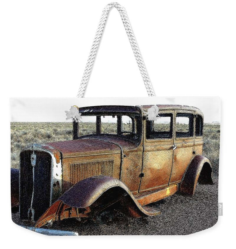Arizona Weekender Tote Bag featuring the photograph Abandonded Along Rt 66 by Nelson Strong