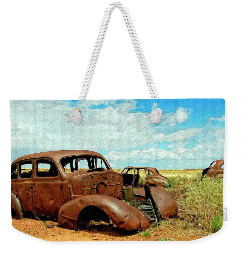 Abandoned Weekender Tote Bag featuring the painting Abandoned 1 by Dominic Piperata