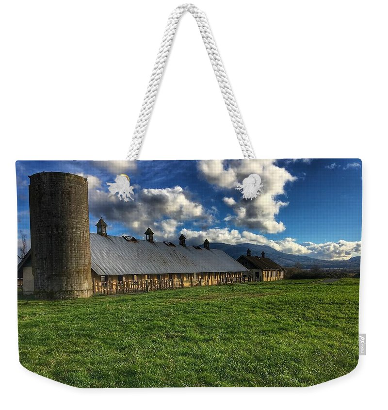 Abandoned Building Weekender Tote Bag featuring the photograph Abandoned Building by Frank Morris