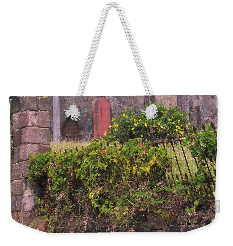 Anglican Weekender Tote Bag featuring the photograph Abandoned Churchyard by Ian MacDonald