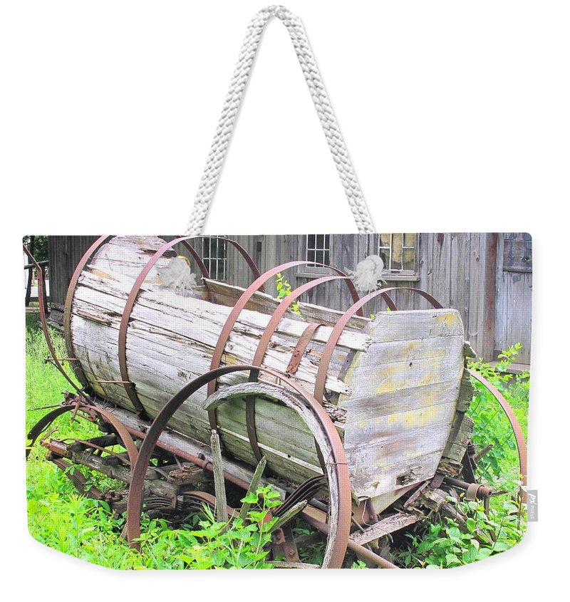 Wagon Weekender Tote Bag featuring the photograph Abandoned by Ian MacDonald