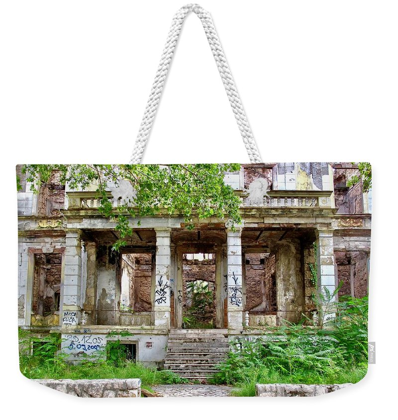 Street Photography Weekender Tote Bag featuring the photograph Abandoned In Mostar by Aaris K