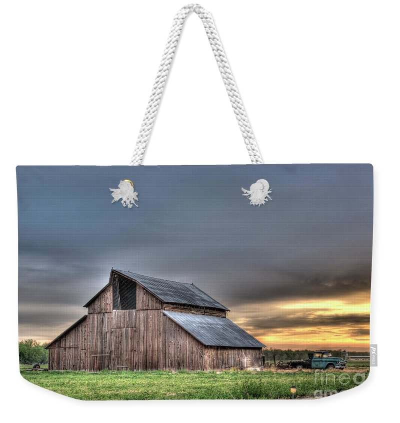 Barn Weekender Tote Bag featuring the photograph Abandoned by Jim And Emily Bush