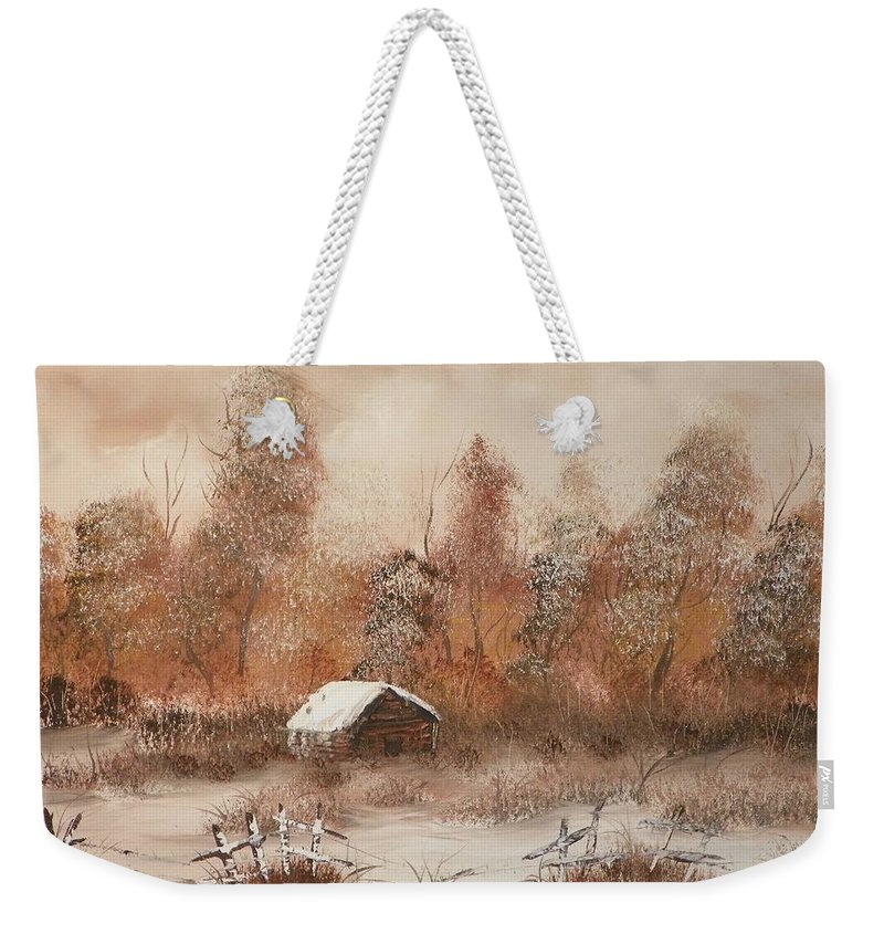 Trees Weekender Tote Bag featuring the painting Abandoned by Laurie Kidd