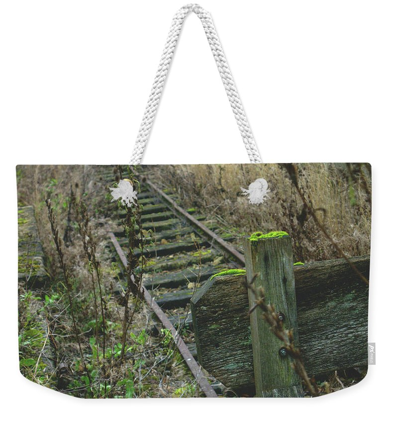 Hidden Weekender Tote Bag featuring the photograph Abandoned Miniature Railway by James Golding