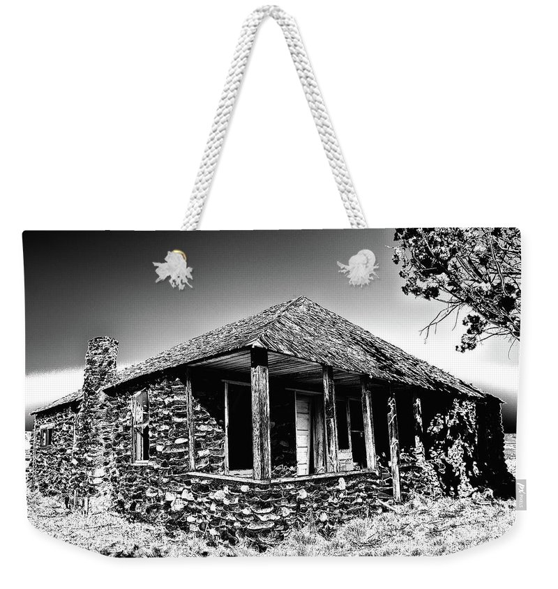 Abandoned Stone House Weekender Tote Bag featuring the photograph Abandoned Stone House by Charles Scrofano Jr