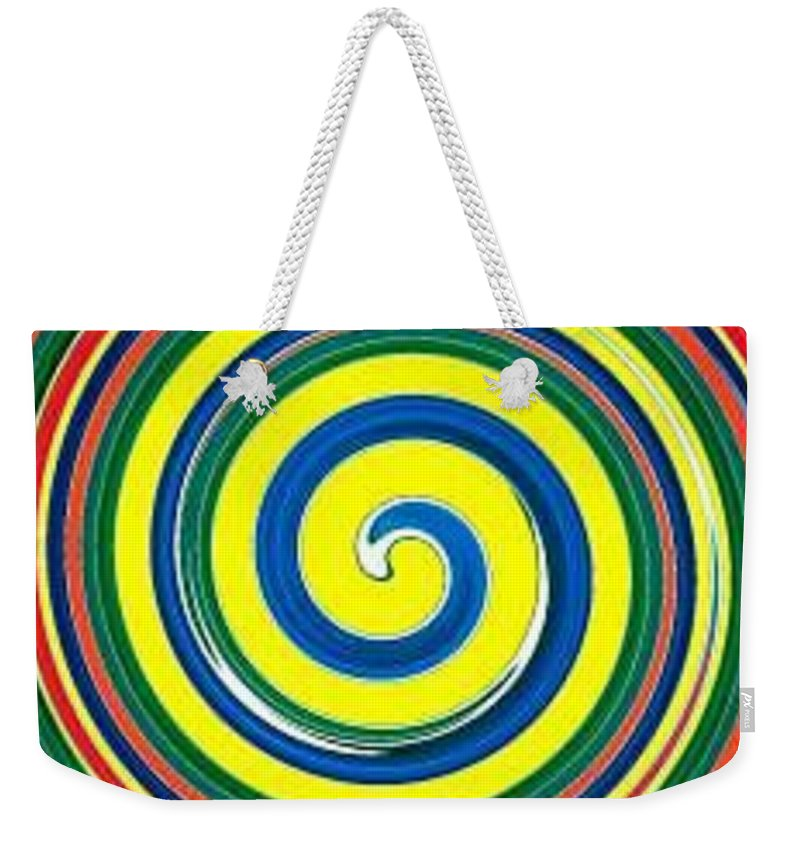 Digital Spiral Weekender Tote Bag featuring the painting Abb1 by Andrew Johnson