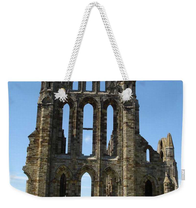 Abby Weekender Tote Bag featuring the photograph Abbey At Whitby by Susan Baker