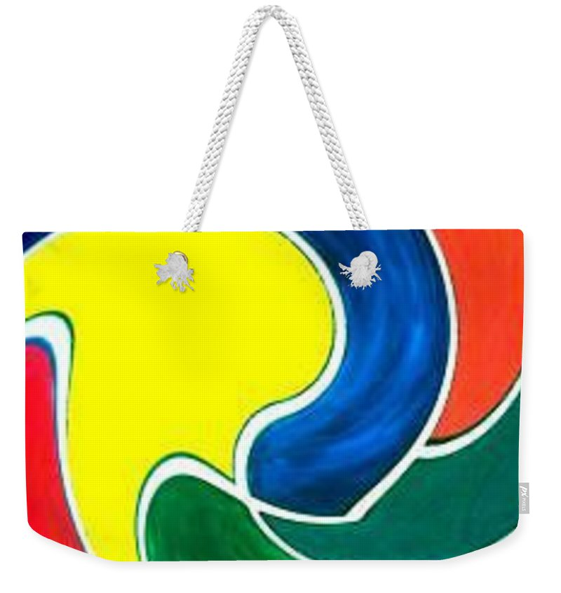 Digitalized Weekender Tote Bag featuring the digital art Abbs by Andrew Johnson