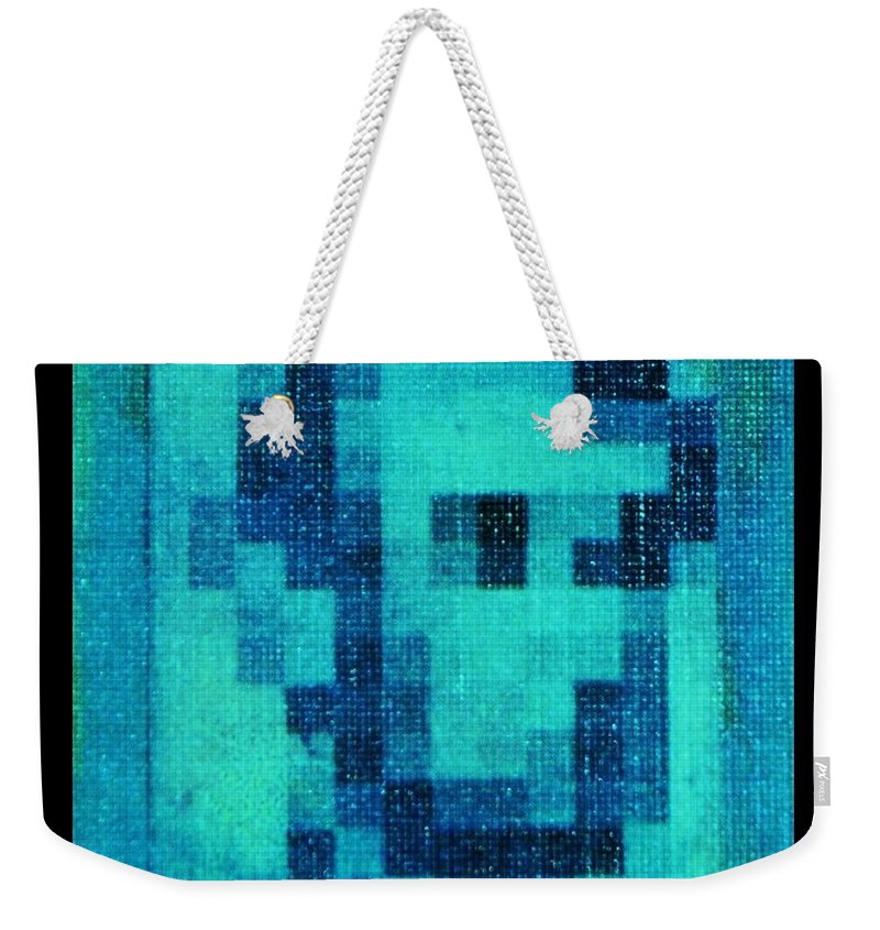 Blue Weekender Tote Bag featuring the photograph Abe In Aqua by Rob Hans