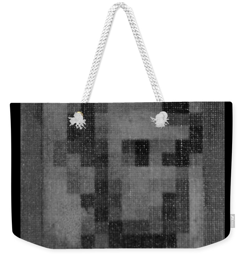 Black And White Weekender Tote Bag featuring the photograph Abe In Black And White by Rob Hans
