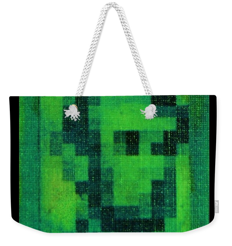 Green Weekender Tote Bag featuring the photograph Abe In Green by Rob Hans