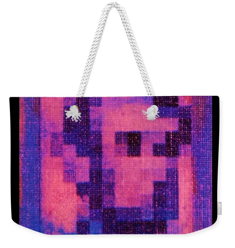 Pink Weekender Tote Bag featuring the photograph Abe In Hot Pink by Rob Hans