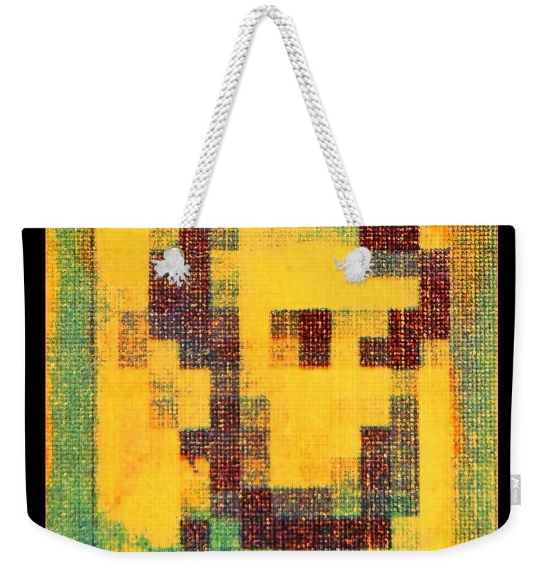 Yellow Weekender Tote Bag featuring the photograph Abe In Yellow by Rob Hans