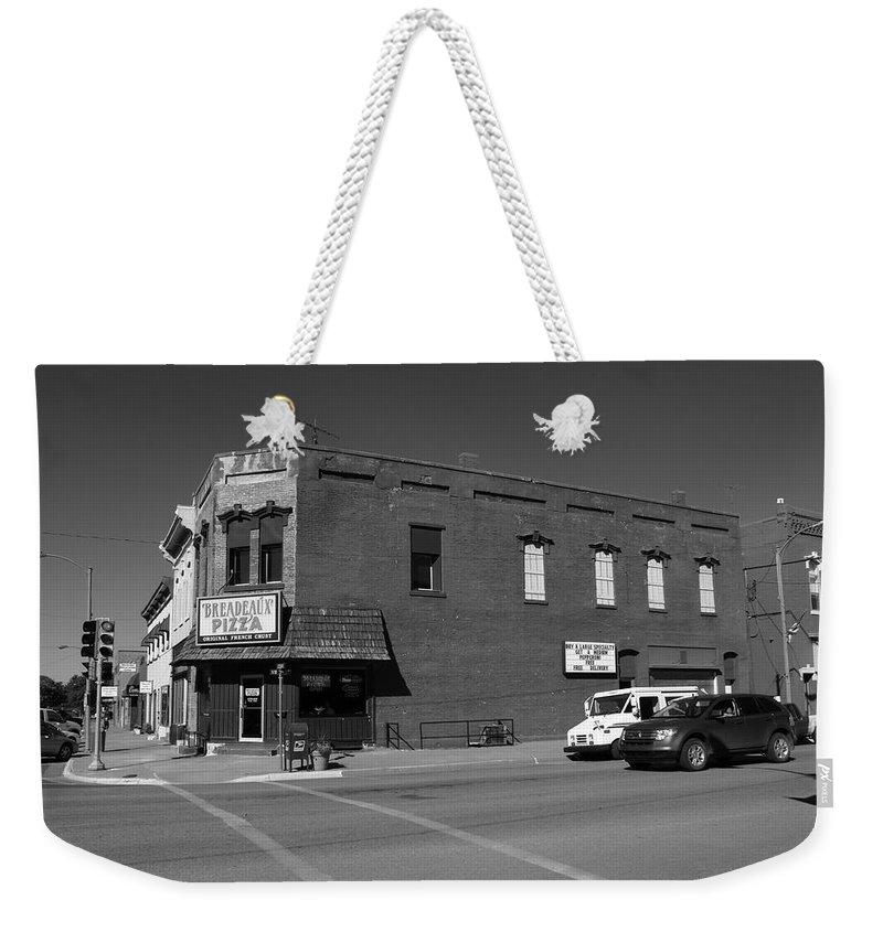 Abilene Weekender Tote Bag featuring the photograph Abilene, Kansas - Cedar And 3rd II by Frank Romeo