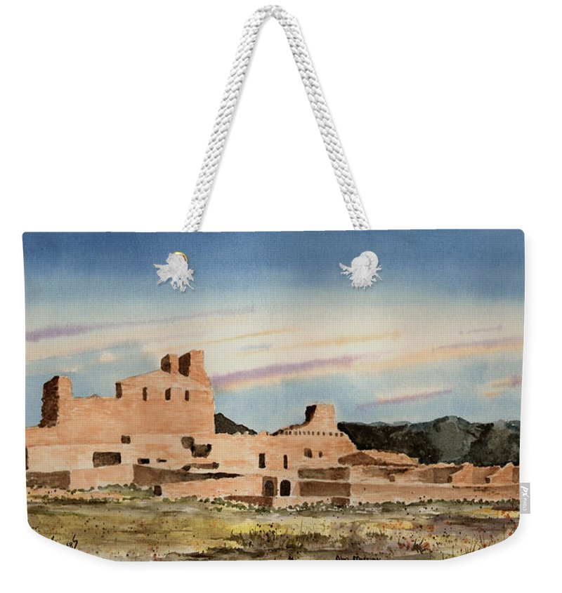 Mission Weekender Tote Bag featuring the painting Abo Mission by Sam Sidders
