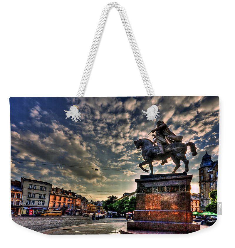 City Weekender Tote Bag featuring the photograph Above All by Evelina Kremsdorf