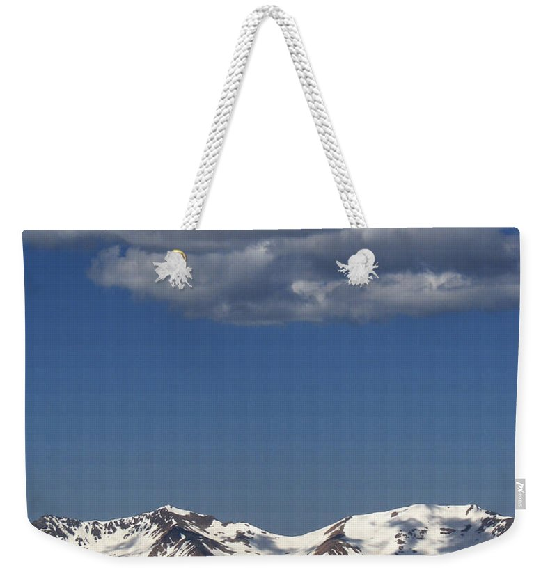 Colorado Weekender Tote Bag featuring the photograph Above It All by Amanda Barcon