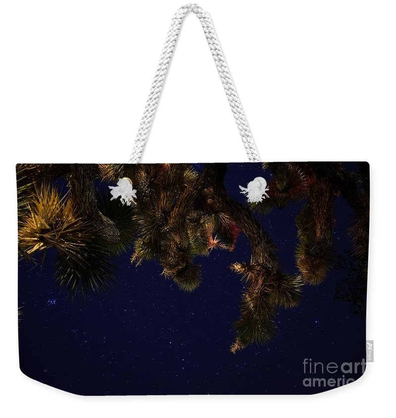 Night Stars Weekender Tote Bag featuring the photograph Above Me by Angela J Wright