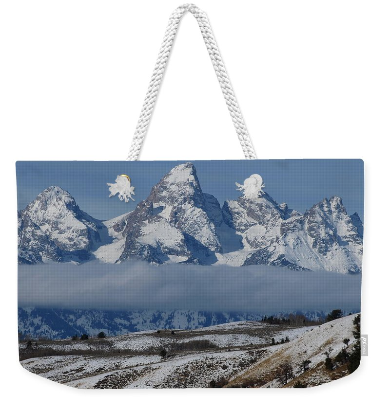 Teton Weekender Tote Bag featuring the photograph Above The Clouds by DeeLon Merritt