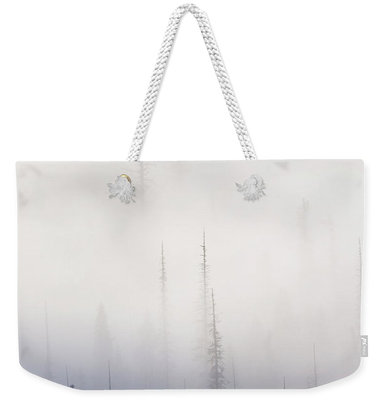 Clouds Weekender Tote Bag featuring the photograph Above them All by Mike Dawson