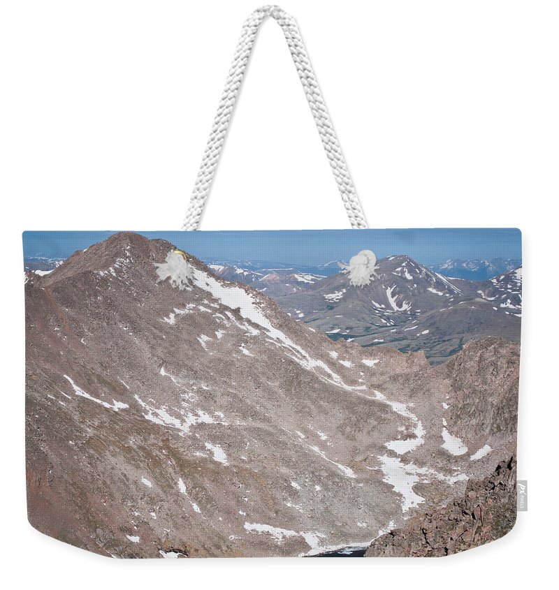 Mountains Weekender Tote Bag featuring the photograph Above Treeline by Colleen Coccia